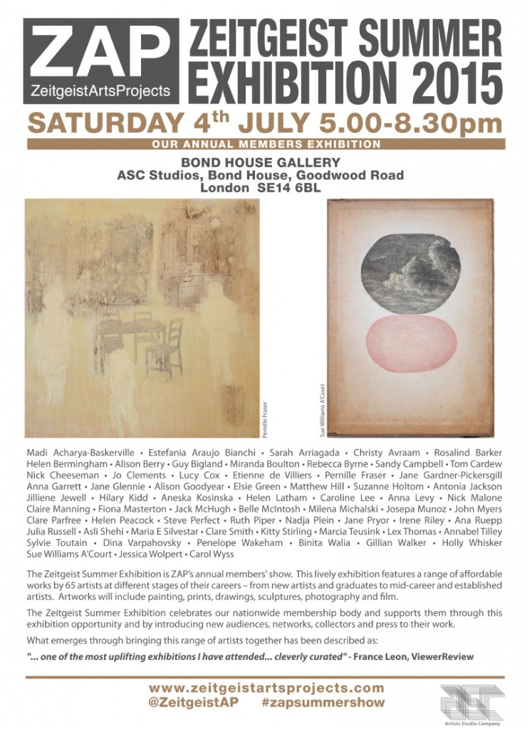 Looking forward to taking part in the ZAP Summer Exhibition 2015