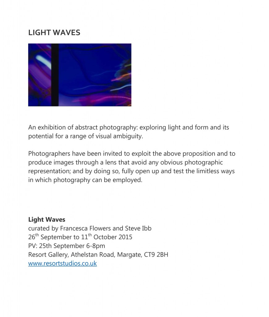 light waves invite